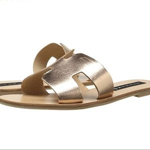 Steven by Steve Madden Greece rose gold sandal
